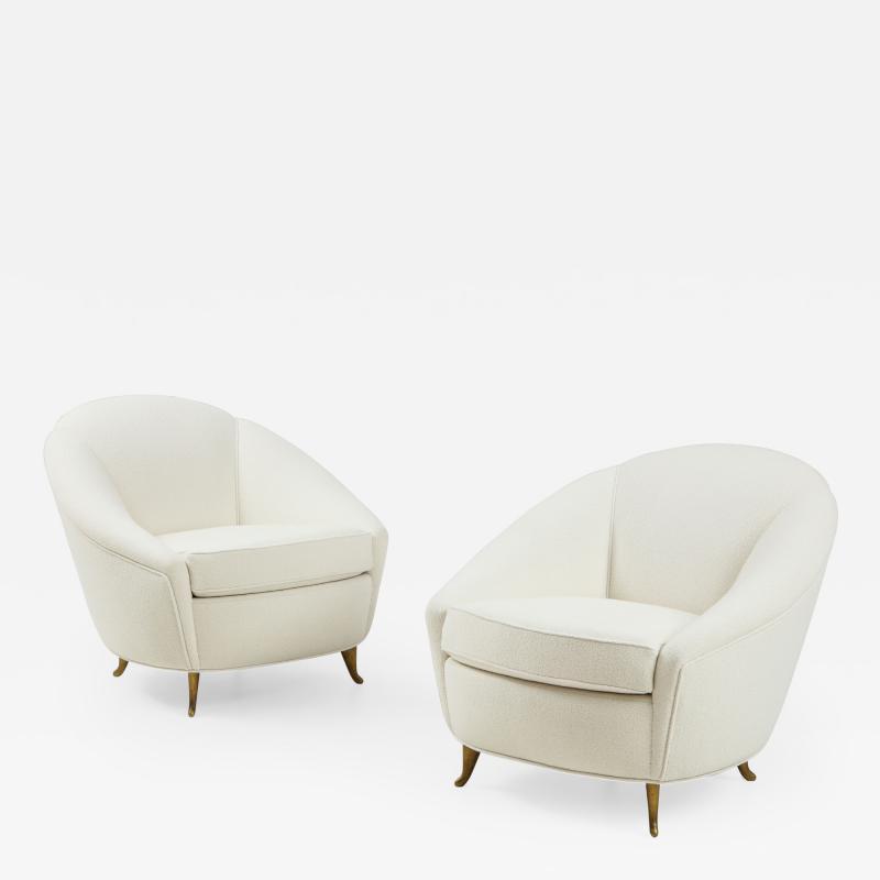Gio Ponti Pair of Boucl Armchairs