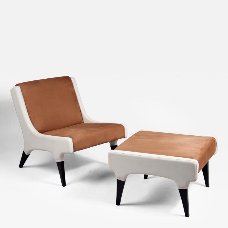 Gio Ponti Pair of Chairs with Stools by Gio Ponti 1891 1979 Italy ca 1964
