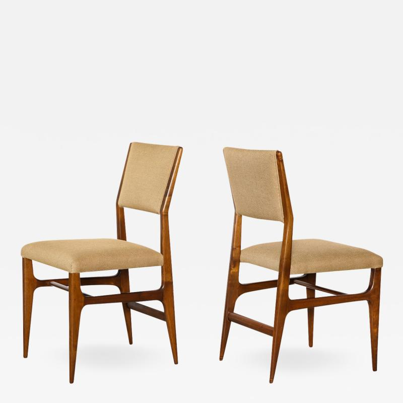 Gio Ponti Pair of Side Chairs by Gio Ponti for M Singer Sons