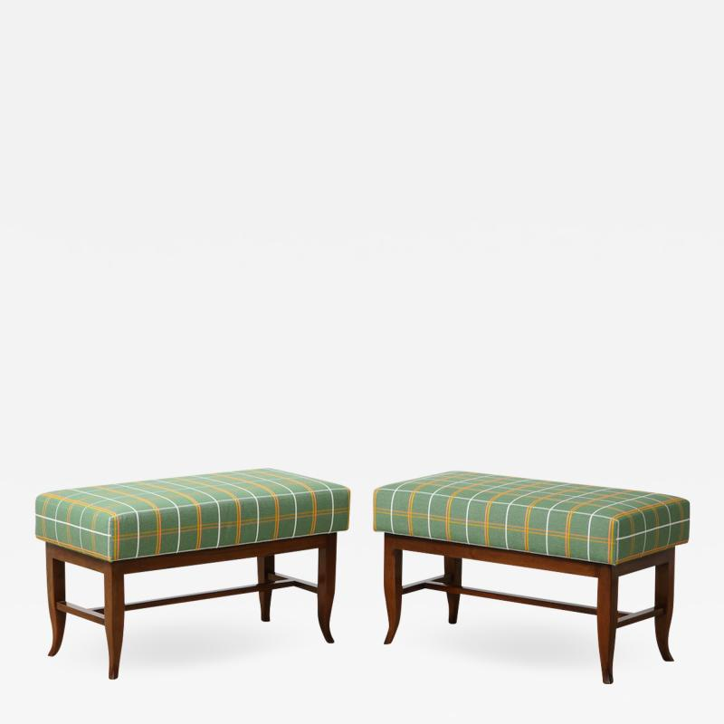 Gio Ponti Pair of Upholstered Benches by Gio Ponti