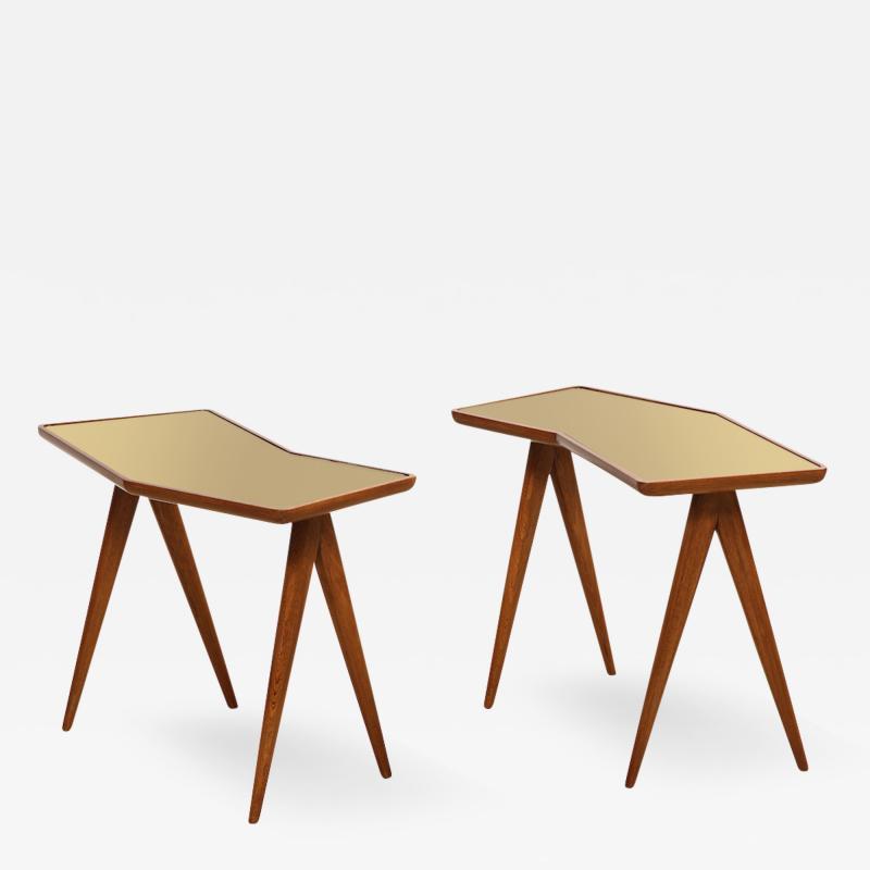 Gio Ponti Rare Pair of Side Tables by Gio Ponti Pietro Chiesa