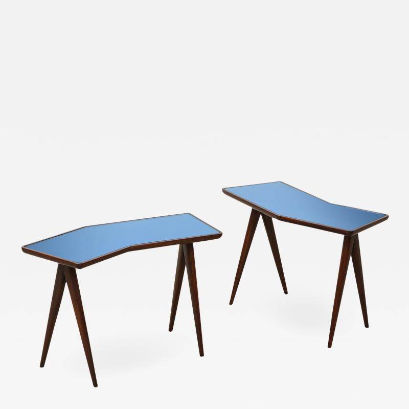 Gio Ponti Rare Pair of Side Tables by Gio Ponti Pietro Chiesa