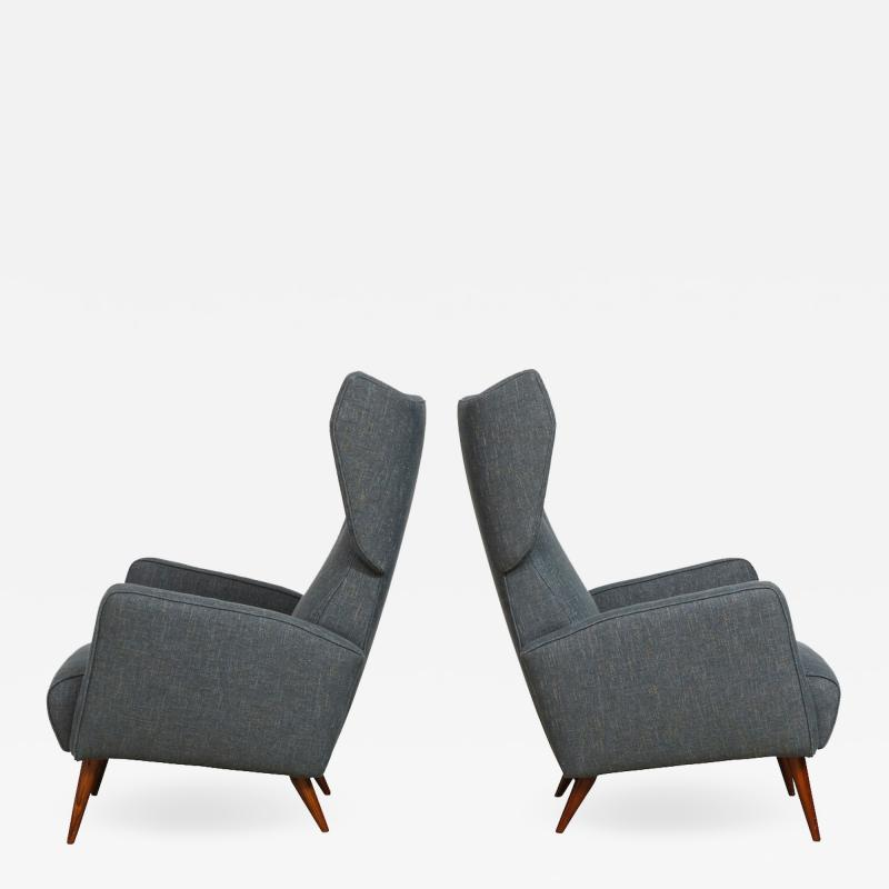 Gio Ponti Rare pair of Lounge Chairs by Gio Ponti