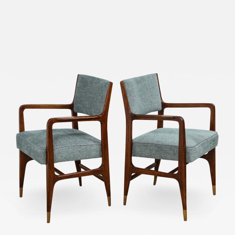 Gio Ponti Rare pair of armchairs by Gio Ponti