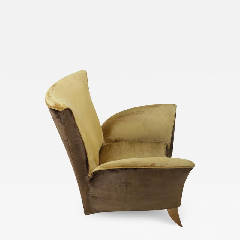 Gio Ponti Sculptural Italian Lounge Chair 1960s