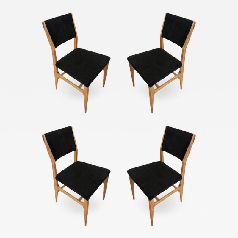 Gio Ponti Set of Four Dining Chairs by Gio Ponti for Singer Sons