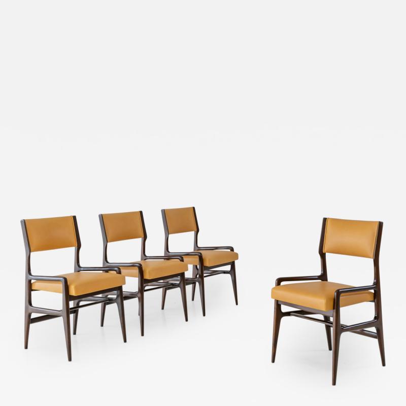 Gio Ponti Set of Four Rare Dining Chairs