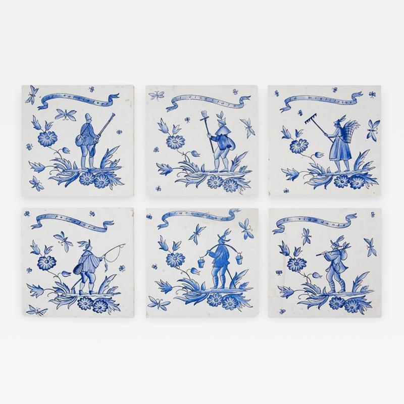 Gio Ponti Set of Six Ceramic Tiles by Gio Ponti