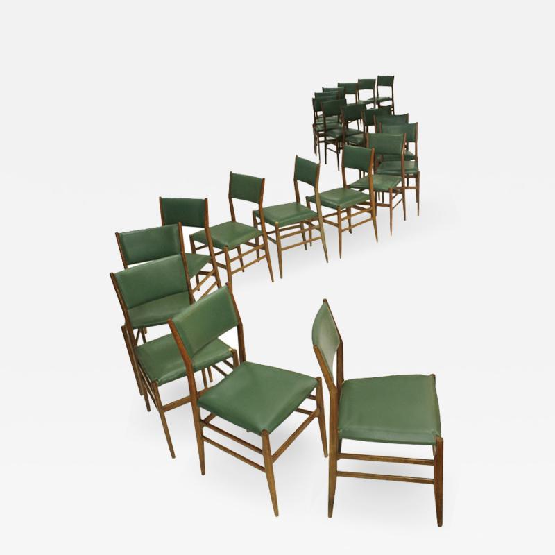 Gio Ponti Set of Twenty Chairs Mod Leggera Designed by Gio Ponti