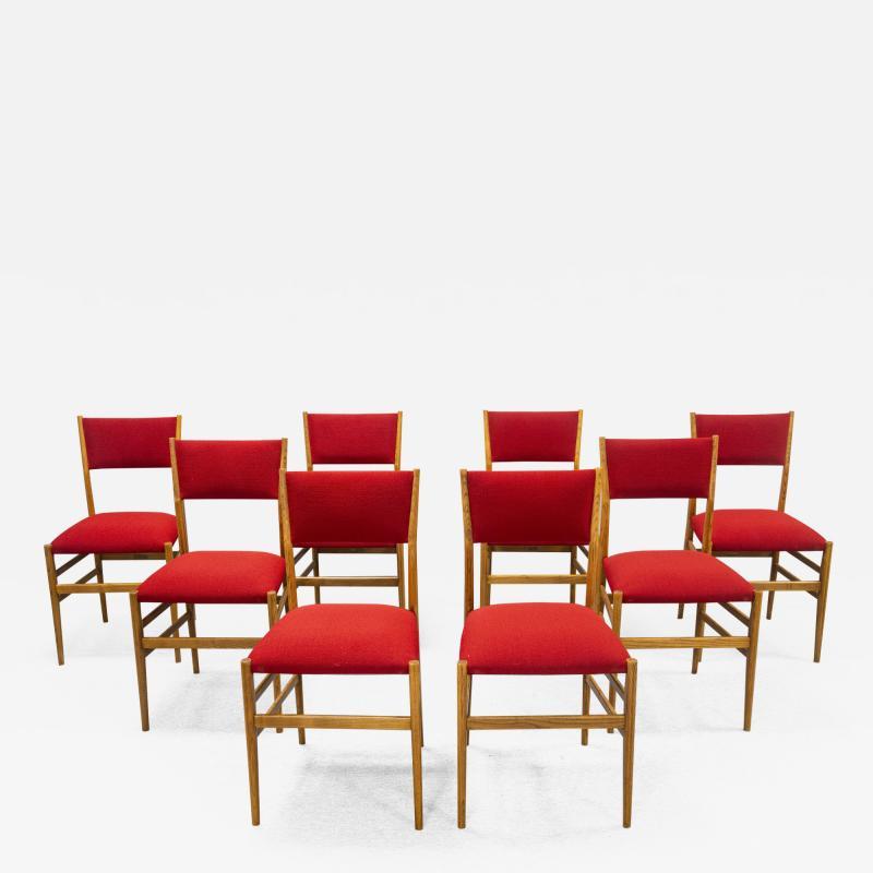 Gio Ponti Set of eight Superleggera chairs