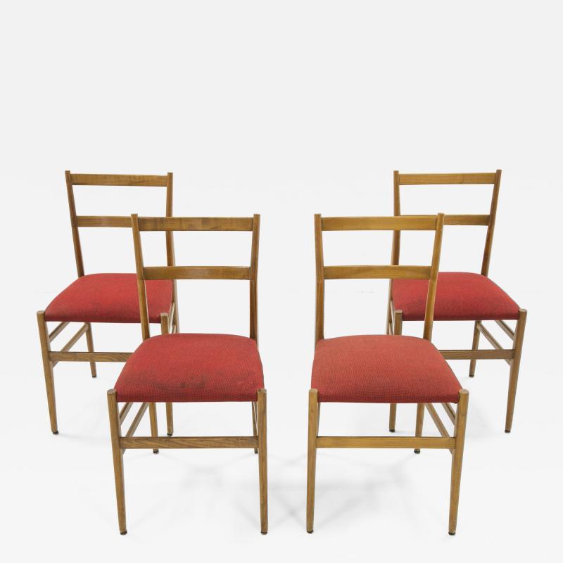 Gio Ponti Set of four Superleggera chairs by Gio Ponti circa 1950