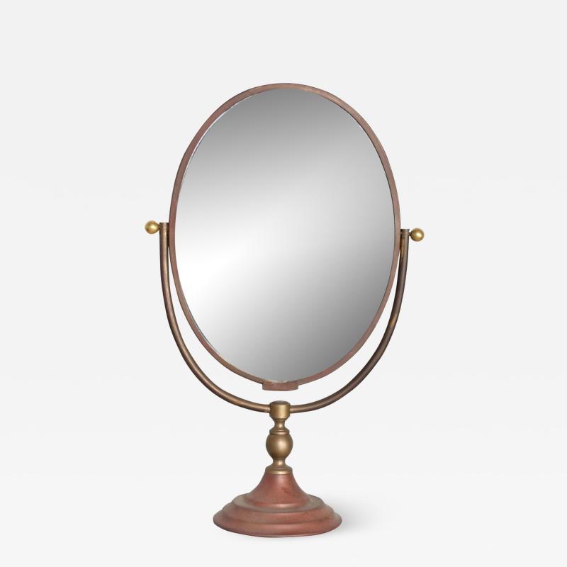 Gio Ponti Vintage Modern Vanity Table Mirror Oval