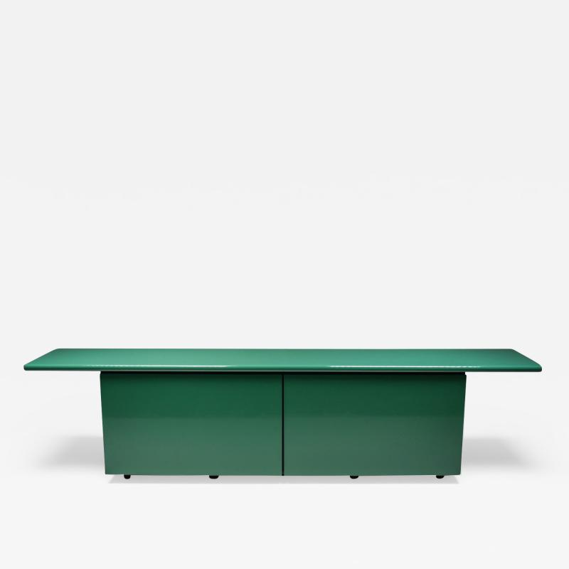 Giotto Stoppino Green Lacquer Credenza by Giotto Stoppino for Acerbis 1977