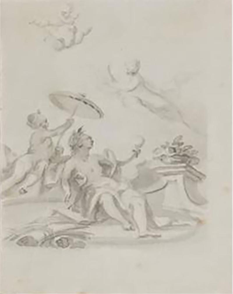 Giovanni Battista Tiepolo Drawing Circle of Giovanni Battista Tiepolo