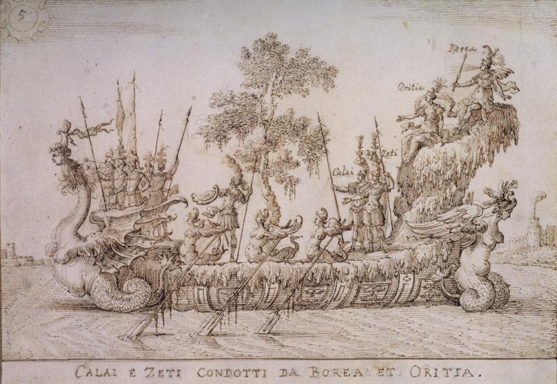 Giulio Parigi The galley of Calai and Zeti