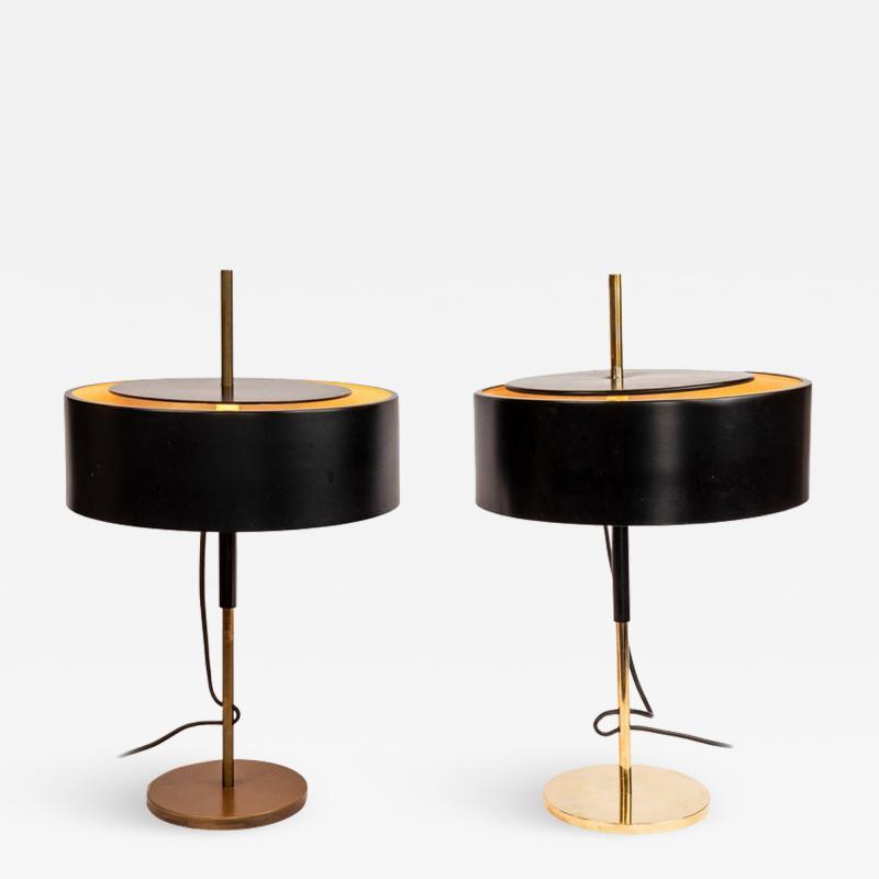 Giuseppe Ostuni Pair of 1950s Giuseppe Ostuni 243 Table Lamps for O Luce