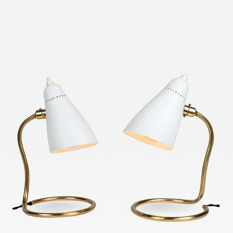 Giuseppe Ostuni Pair of 1950s Giuseppe Ostuni Vipere Table Lamps for O Luce