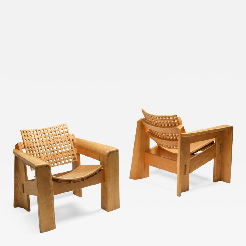 Giuseppe Rivadossi Pair of Rivadossi Armchairs Italy 1980s