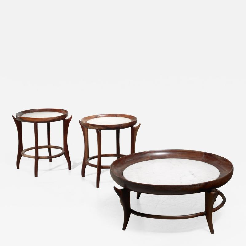 Giuseppe Scapinelli Giuseppe Scapinelli set of three tables Brazil
