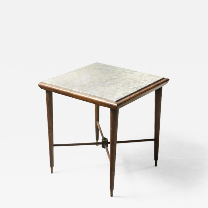 Giuseppe Scapinelli Mid Century Modern Marble Top Side Table by Giuseppe Scapinelli Brazil 1950s