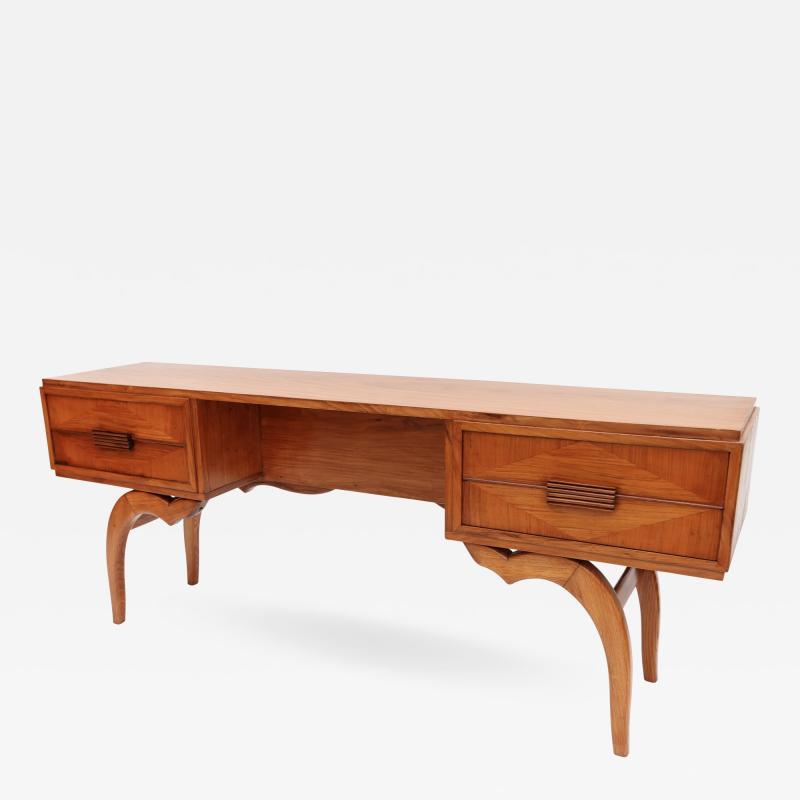 Giuseppe Scapinelli Scapinelli 1960s Brazilian Caviuna Console Table Desk