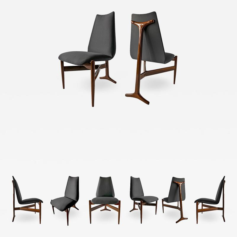 Giuseppe Scapinelli Set of Eight Modern Chairs