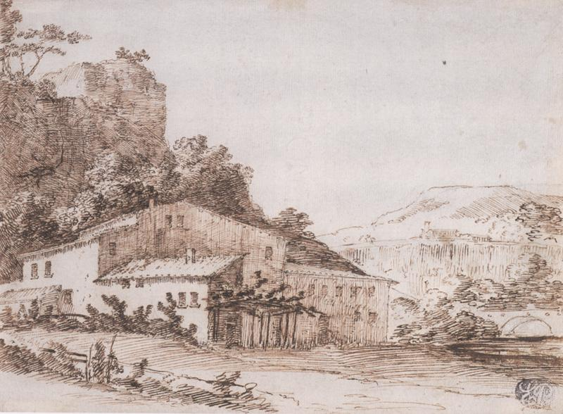 Giuseppe Zais Landscape with a Farmhouse in the Foreground