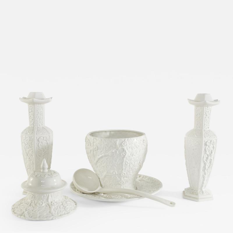 Glazed Porcelain Tableware Garniture Set