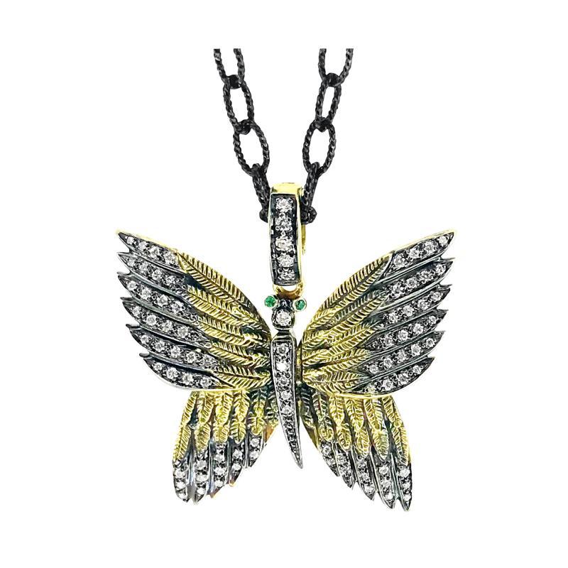 Glenn Bradford Fine Jewelry 18kt Green Gold Butterfly Charm 1