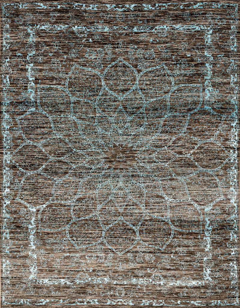 Gloss in Baby Blue SoFarSoNear Studio Super Fine Gabbeh Wool Silk