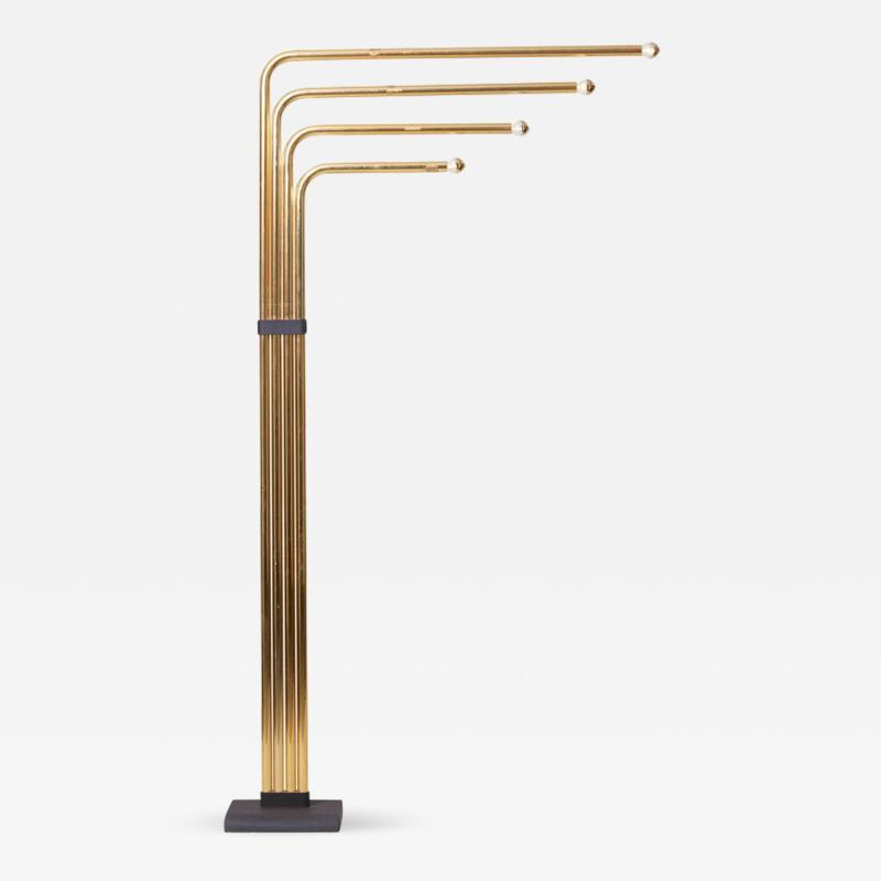 Goffredo Reggiani Adjustable Floor Lamp by Goffredo Reggiani in Brass Italy 1970s