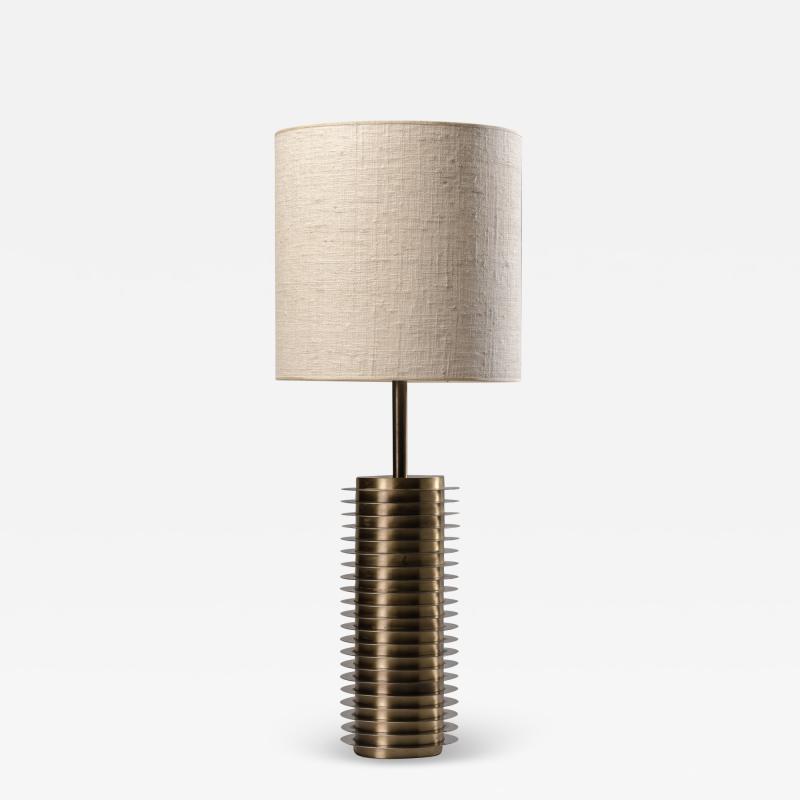 Goffredo Reggiani Goffredo Reggiani Table Lamp In Brass And Aluminium Italy 1970s