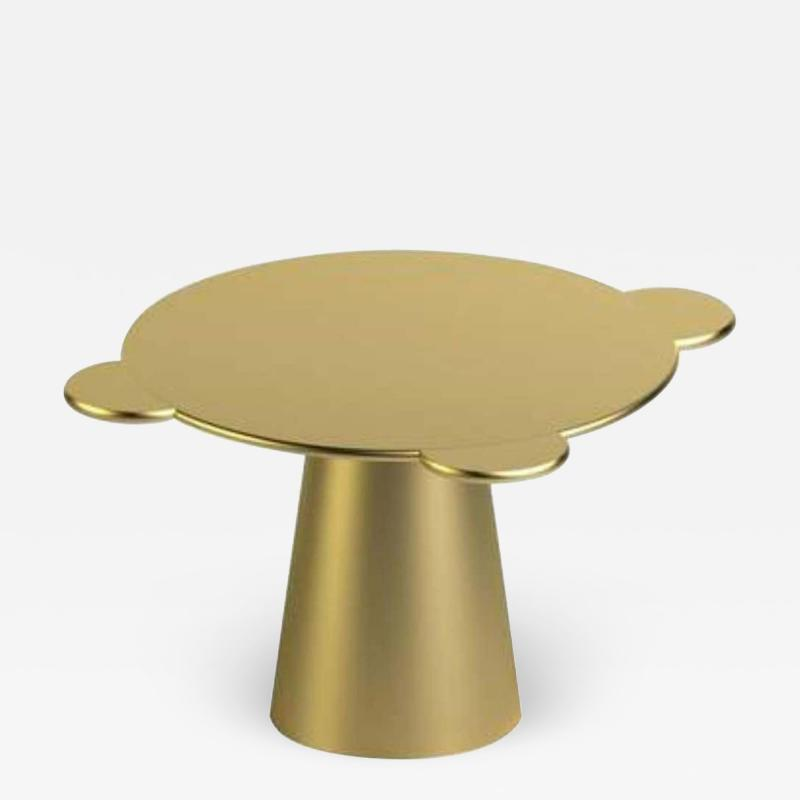 Gold Lacquered Wood Contemporary Donald Table by Chapel Petrassi