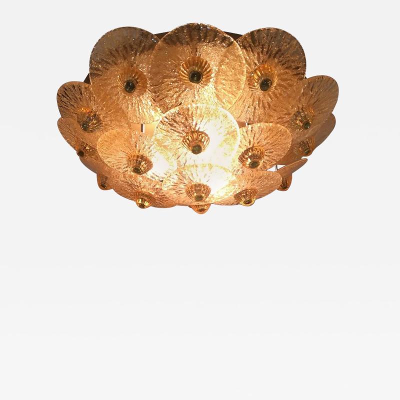Golden Crystal Ceiling Light Small Model