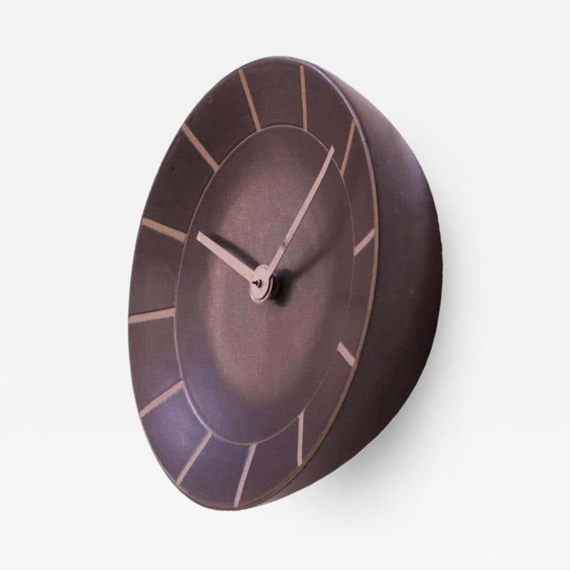 Gordon Jane Martz Gordon and Jane Martz for Marshall Studios Stoneware Wall Clock