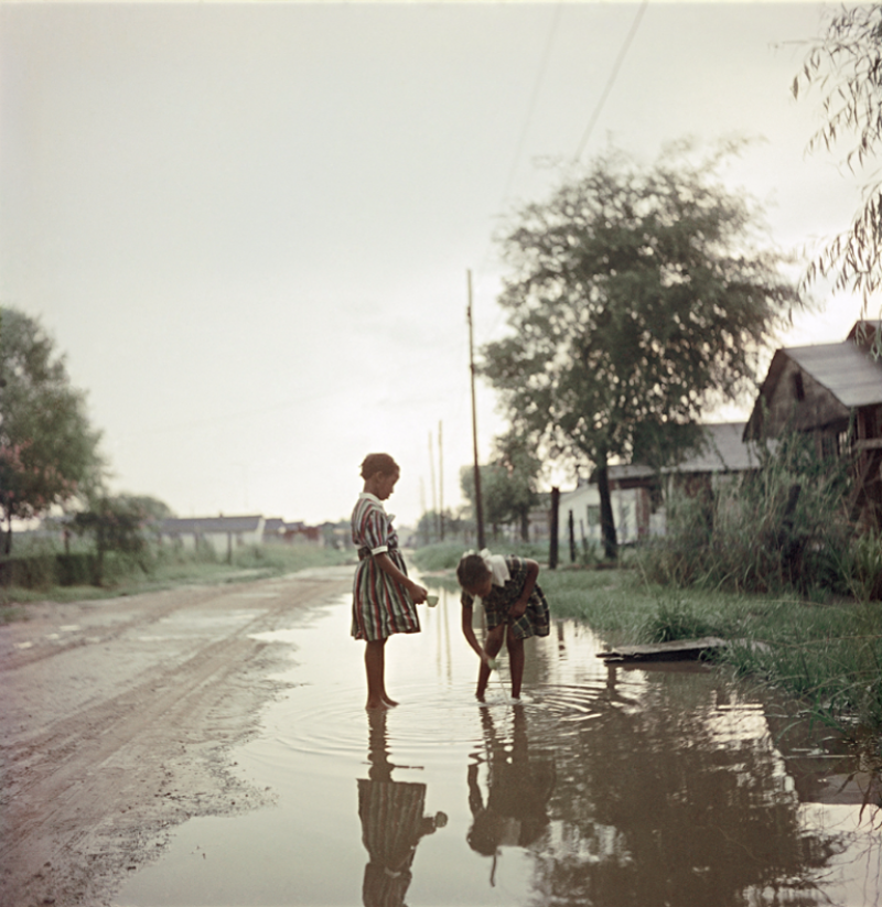 Gordon Parks Untitled Alabama Two Girls in Puddle 37 066