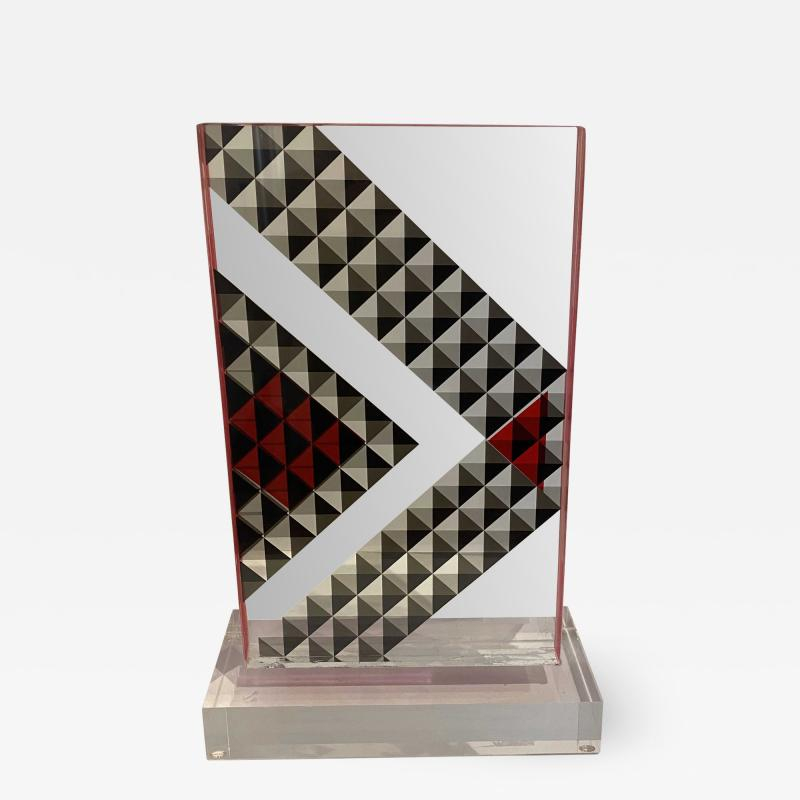 Grace Absi American Modern Hand Colored Monolithic Lucite Sculpture Grace Absi