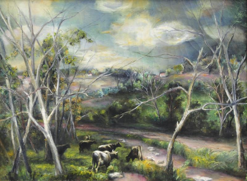 Grace Gemberling Keast Oil on Canvas Landscape by Grace Gemberling Keast