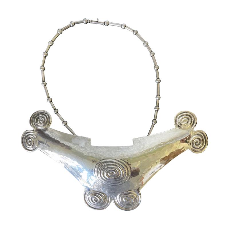 Graziella Laffi Sterling Silver Necklace with Large Pendant Graziella Laffi
