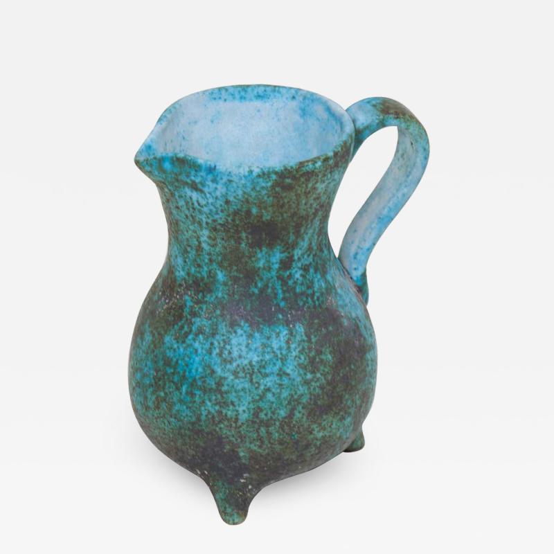 Green Ceramic Vase by Portier