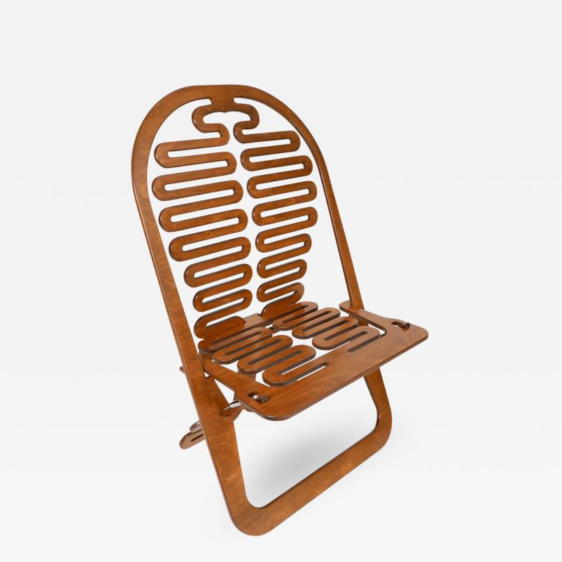 Gregg Fleishman Rare Gregg Fleishman Prototype European Birch Lumbarest Chair