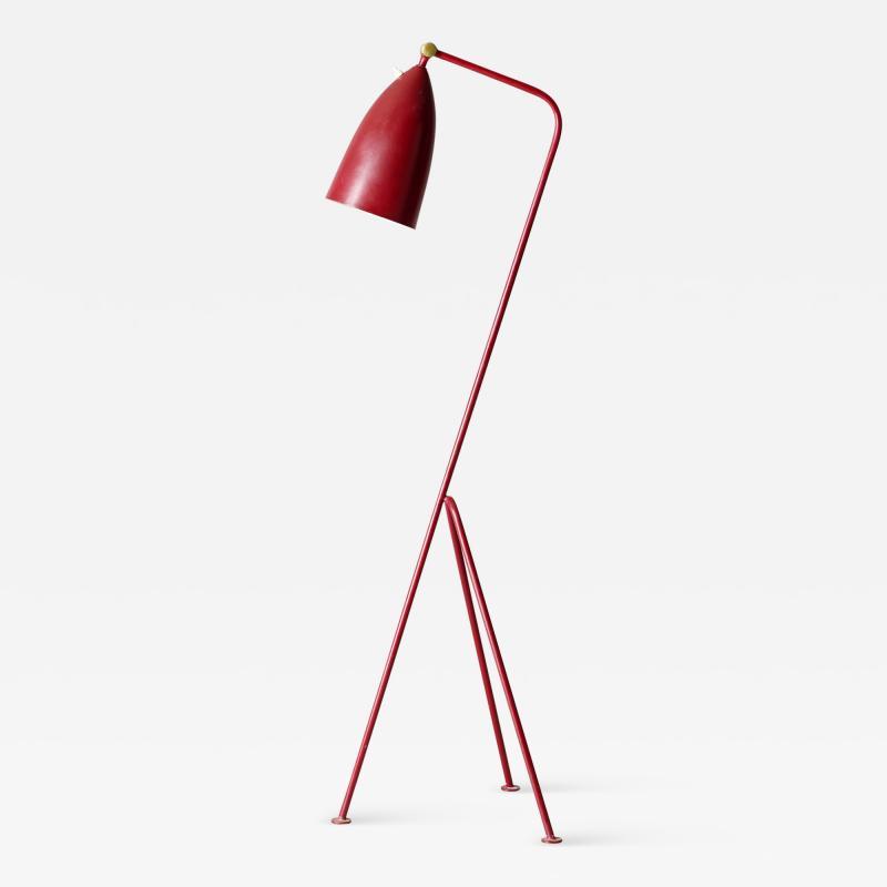 Greta Magnusson Grossman GRETA MAGNUSSON GROSSMAN RED GRASHOPPER LAMP
