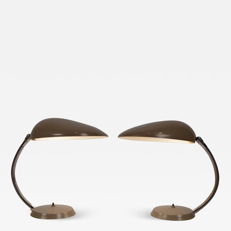 Greta Magnusson Grossman Museum Quality Pair of Greta M Grossman Cobra Lamps Ralph O Smith Labels Intact