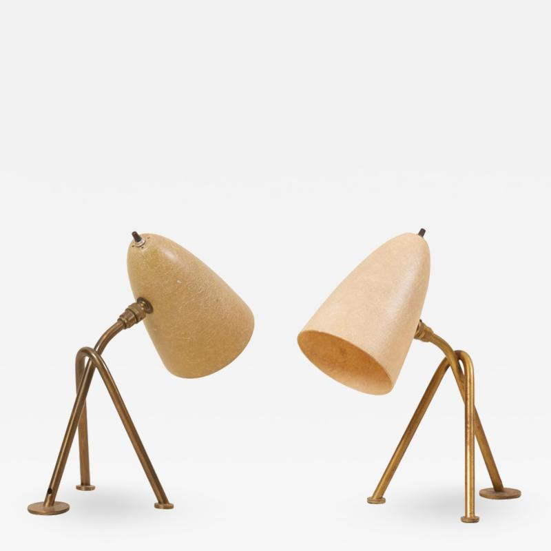 Greta Magnusson Grossman Pair Of Grasshopper Table Lamps By Greta Grossman For Ralph O Smith Us 1950s