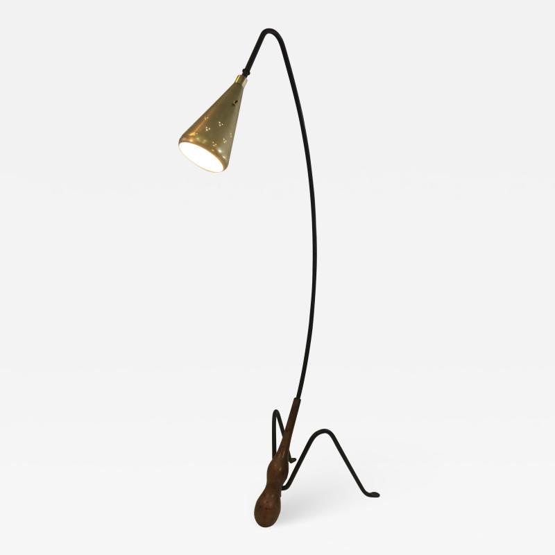Greta Magnusson Grossman SUPERB MID CENTURY MODERNIST FLOOR LAMP IN THE MANNER OF GRETA GROSSMAN