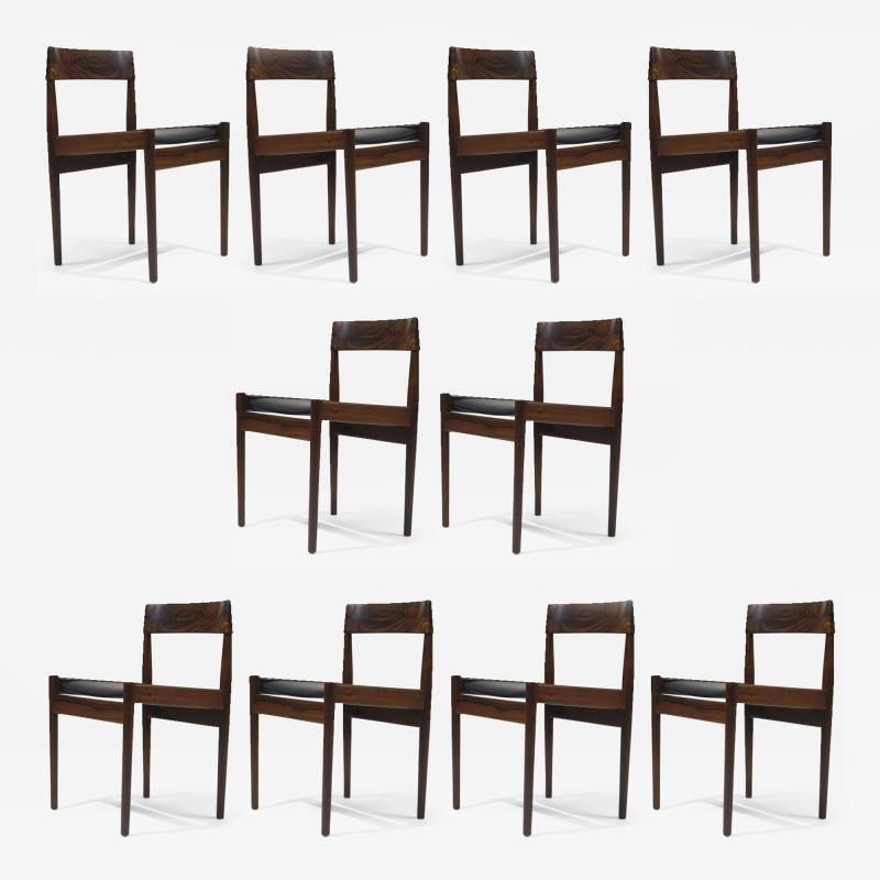 Grete Jalk Grete Jalk for P Jeppesens Rosewood Danish Dining Chairs