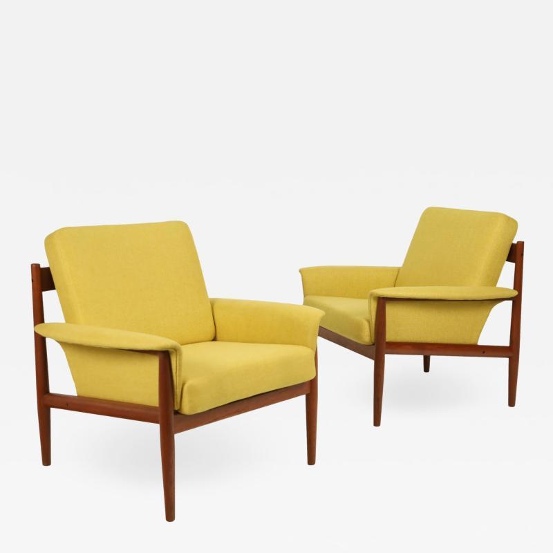 Grete Jalk Pair of Scandinavian Modern Armchairs Designed by Grete Jalk