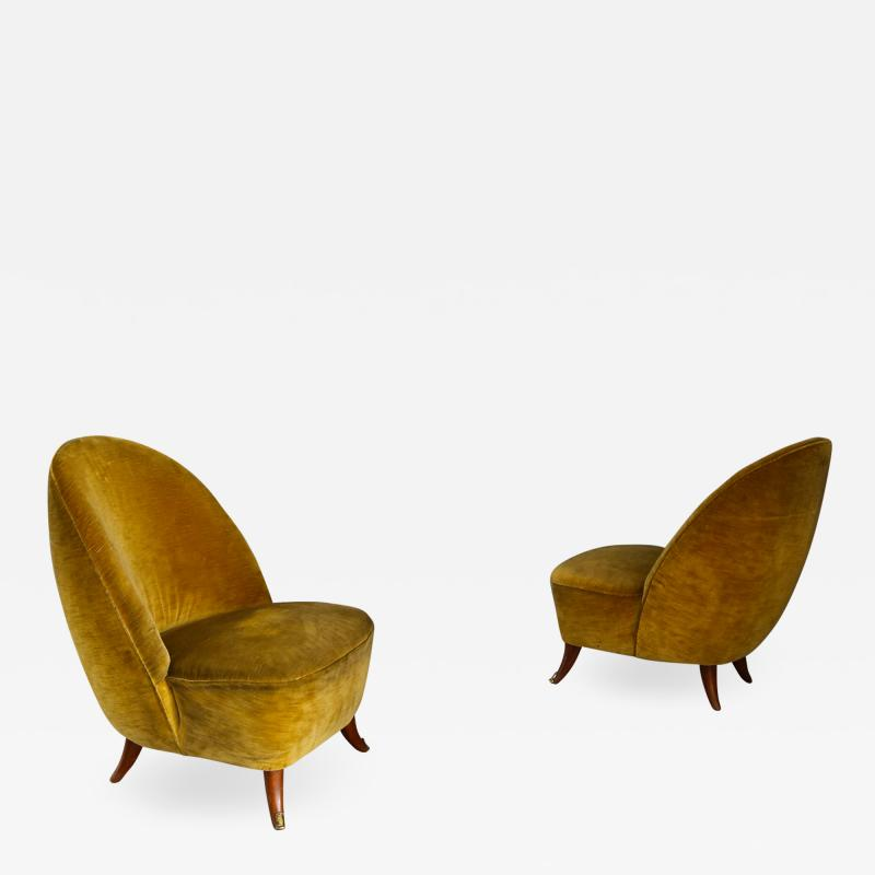 Guglielmo Ulrich Guglielmo Ulrich armchairs from 1950 with original fabric