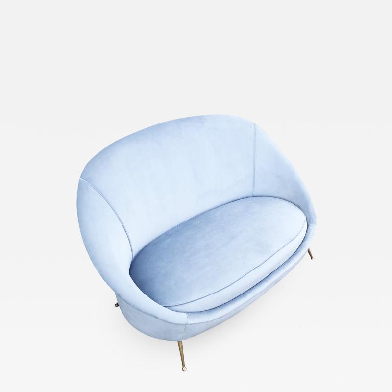 Guglielmo Veronesi Love Seat by Veronesi for ISA Italy 1960s