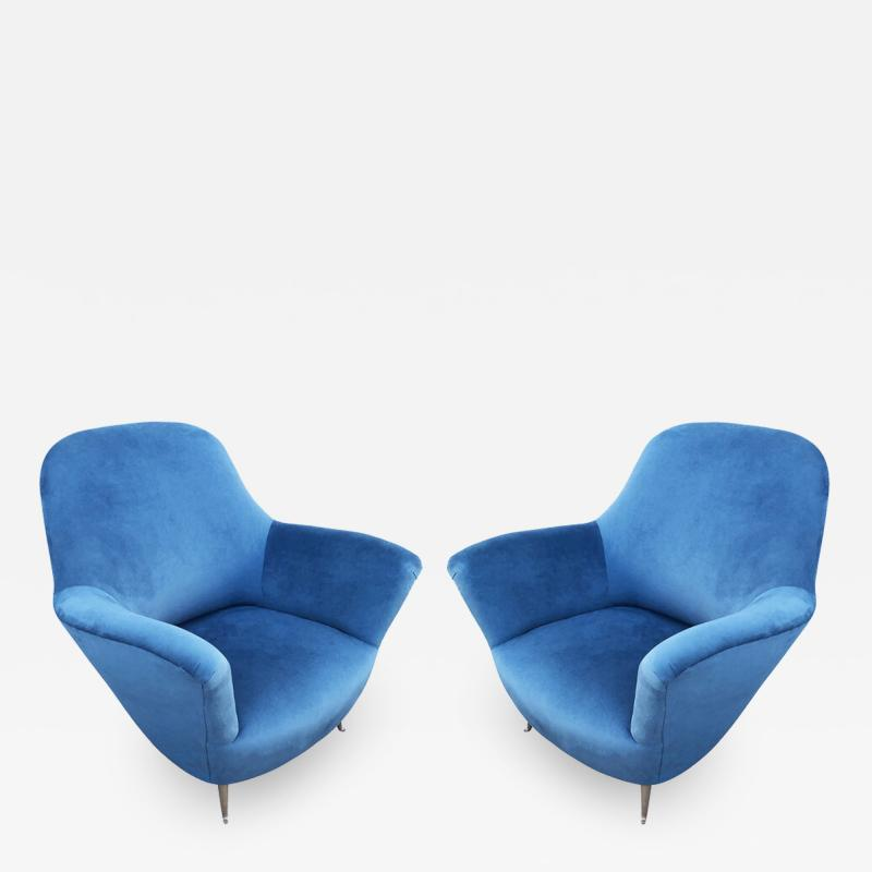 Guglielmo Veronesi Pair of Lounge Chairs by Veronesi for ISA Italy 1960s